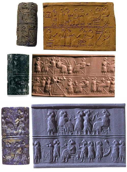 3 individual cylinder seals belonged to Puabi - a very important finding, because they have brought her name to our time