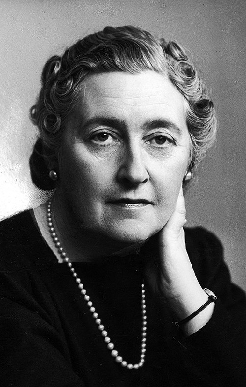 Agatha Christie wearing jewellery