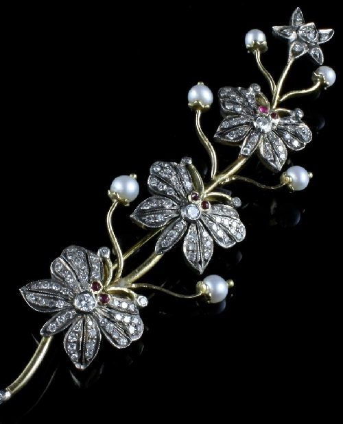 Antique Diamond Butterfly Brooch