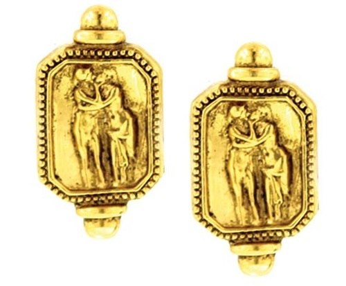 Antiquities Couture Adoration Antique Clip On Earrings