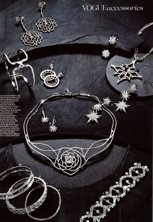 British Vogue, December 2013 Theo Fennell jewelry