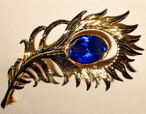 Brooch Firebird feather, jeweler Oleg