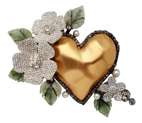 Brooch Golden Heart