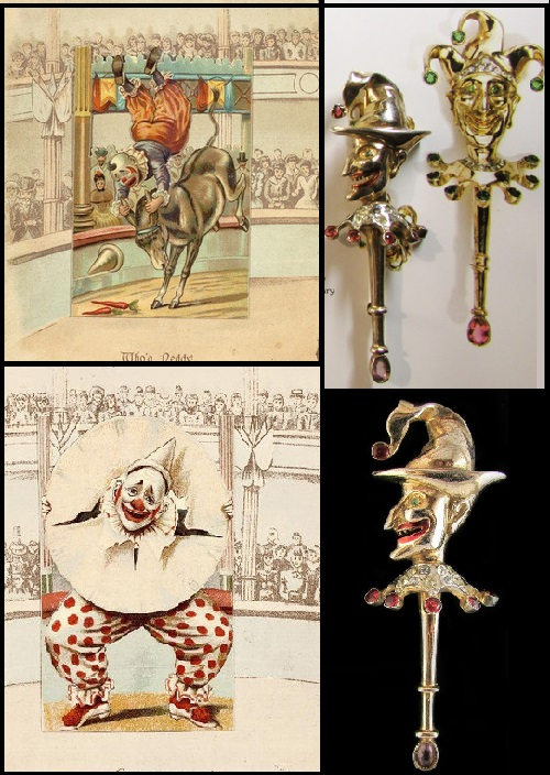 Court Jester, Reja rare brooches made in 1945