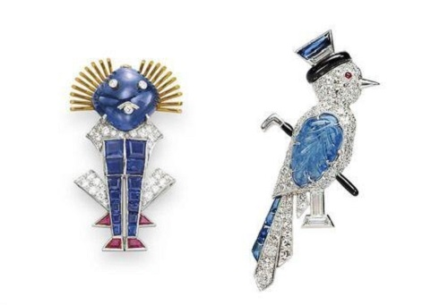 Diamond brooches by Raymond Yard