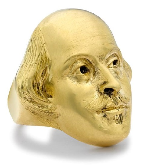Happy Birthday William Shakespeare ring