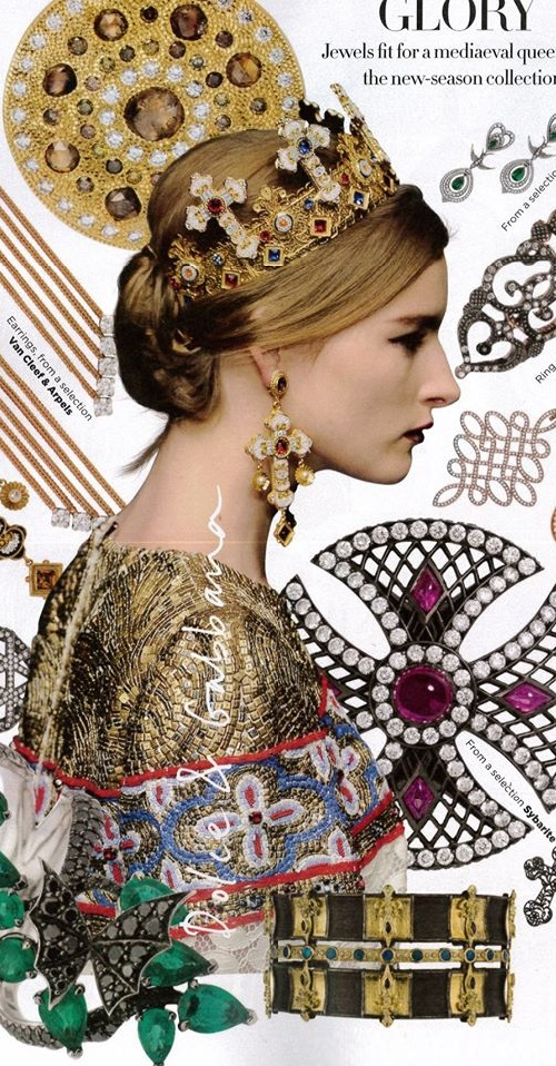 Harper's Bazaar UK, September 2013 featuring Theo Fennell 8ct White Gold, Black Rhodium, Citrine, Diamond & Black Diamond Nightshade Earrings