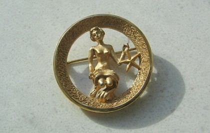 Virgo brooch of the famous series of the zodiac