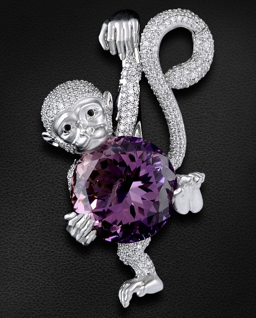 Symbol of 2016 Monkey in jewellery