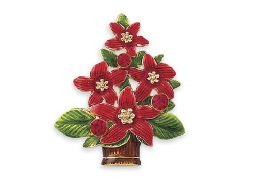 Poinsettia Christmas tree decoration