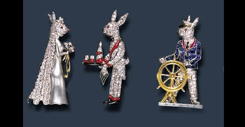 Raymond Yard iconic designs of rabbits. The first pieces of the collection were made in the late 1920