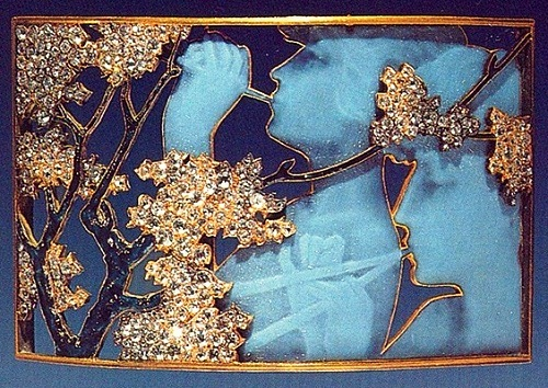 Rene Jules Lalique. Gold, enamel, diamonds; 1898-1900