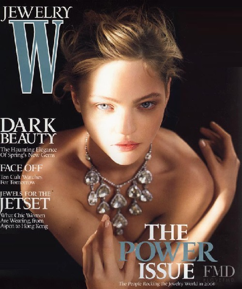 Sasha Pivovarova on the W Jewelry cover from May 2006