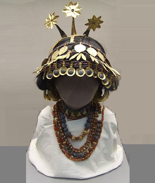 Sumerian Queen Puabi jewellery