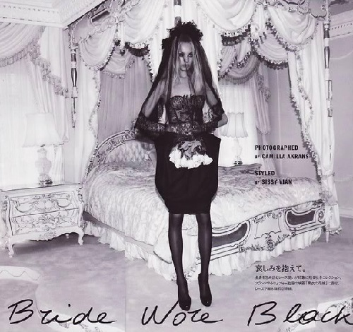 The Bride Wore Black. Vogue, Japan