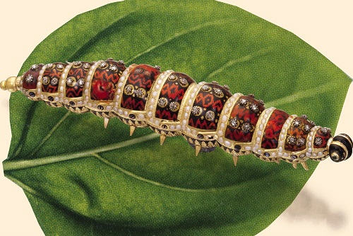 Caterpillar luxurious jewellery