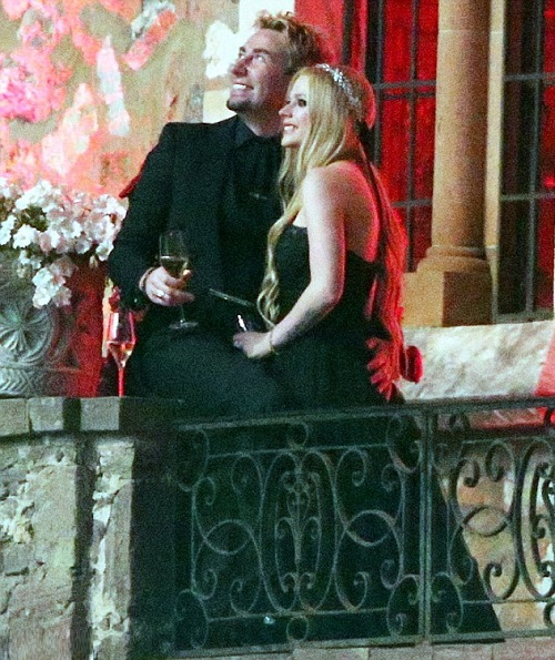 The Wedding of Avril Lavigne and Chad Kroeger at their wedding in the South of France, July 2013. Photo - dailymail.co.uk