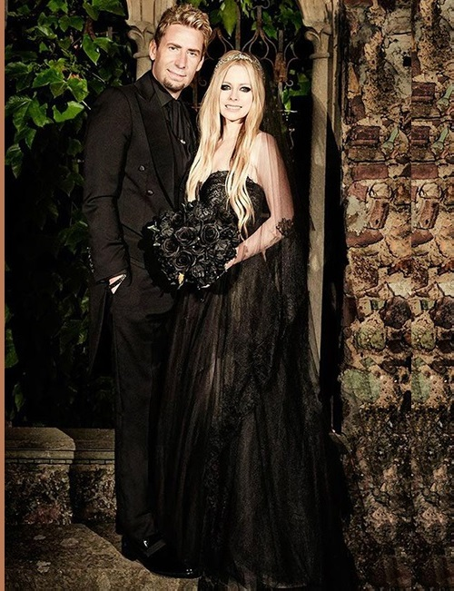 The Wedding of Avril Lavigne and Chad Kroeger at their wedding in the South of France, July 2013