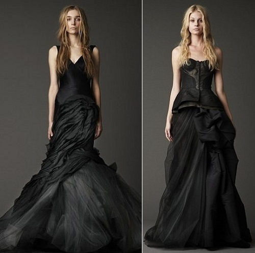 Vera Wang black wedding dress