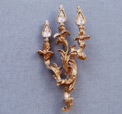 Galina Karputina collection. Vintage Brooch in the form of a chandelier