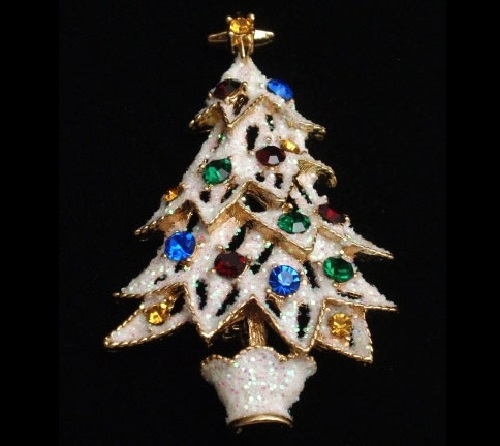 Vintage Christmas brooch by Eisenberg Ice