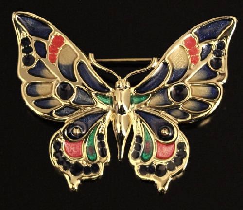 Vintage brooch Butterfly from the company Danecraft