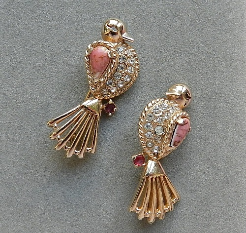 Vintage brooches by Reja, 1940-1950s