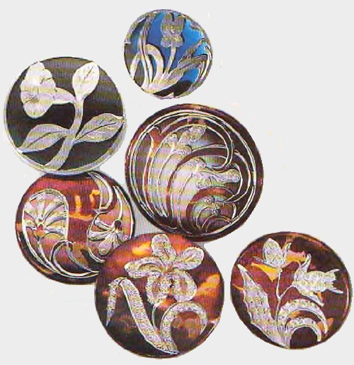 Button jewellery art. France. XIX century