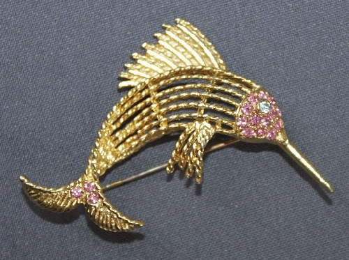 BSK vintage brooch Fish, early 1980s