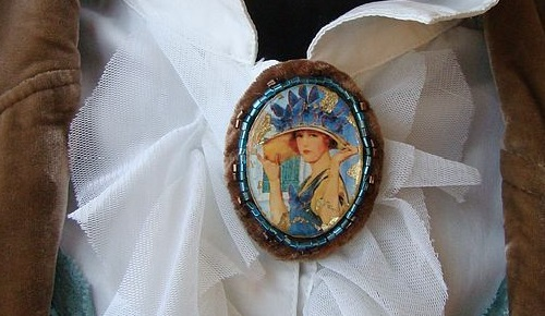 Brooch Hat of butterflies