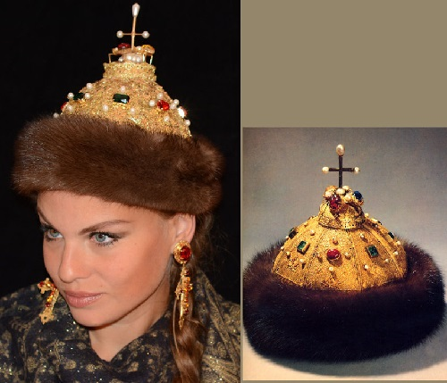 Cap of Monomakh - the symbol of autocracy and the crown of the Russian princes. Maria Venecia Jeweled Crowns