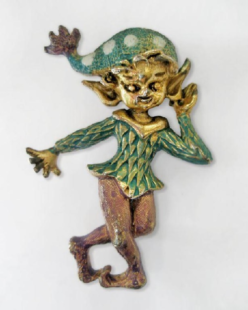 Charming elf leprechaun - from Irish folklore, traditionally portrayed as a small, stocky man. Brings good luck in money