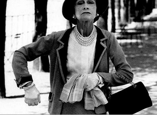 Coco Chanel with reticule