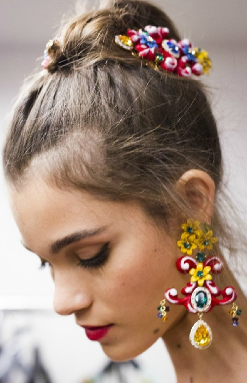 Dolce Gabbana 2016 Head Accessories Kaleidoscope Effect