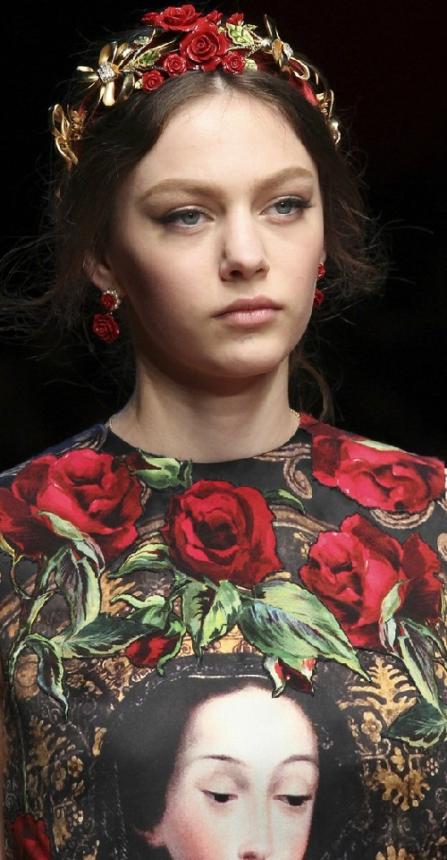 Dolce Gabbana 2016 head accessories