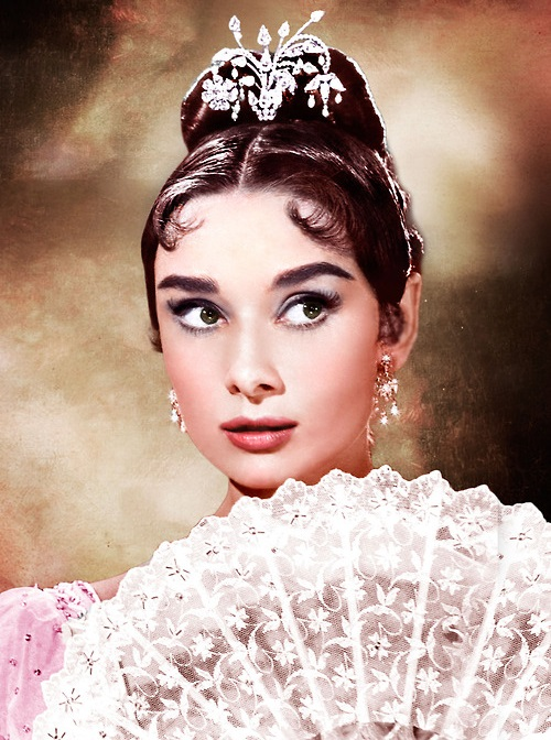 Fan Kaleidoscope. Audrey Hepburn as Natasha Rostova in the film War and peace