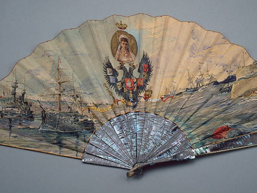 Folding fan with a portrait of the Empress Maria Feodorovna