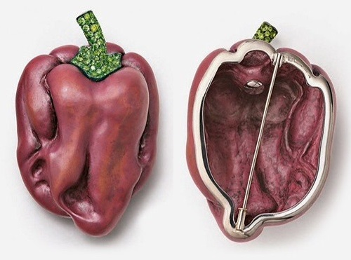 Hemmerle brooch Red Pepper from the series 'Delicious Jewels'