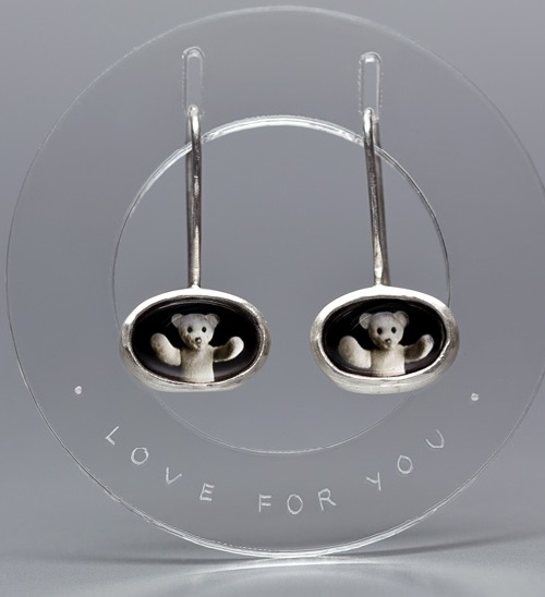Love for you Teddy Bear earrings