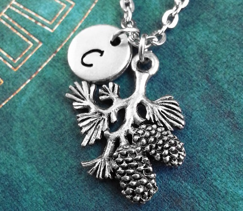 Pine Cone Branch Necklace