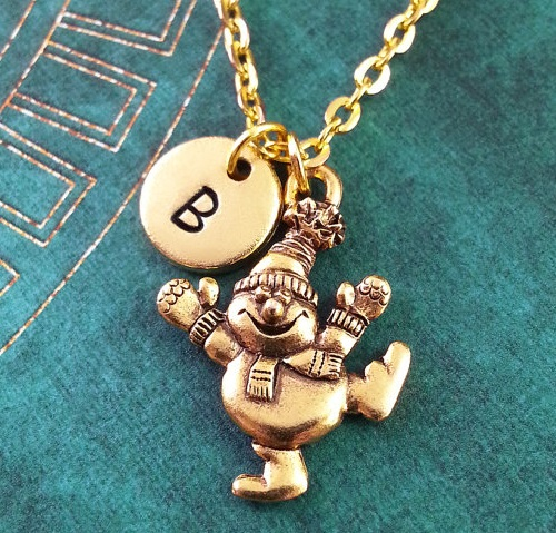Snowman Necklace by Metal Speak, Michigan