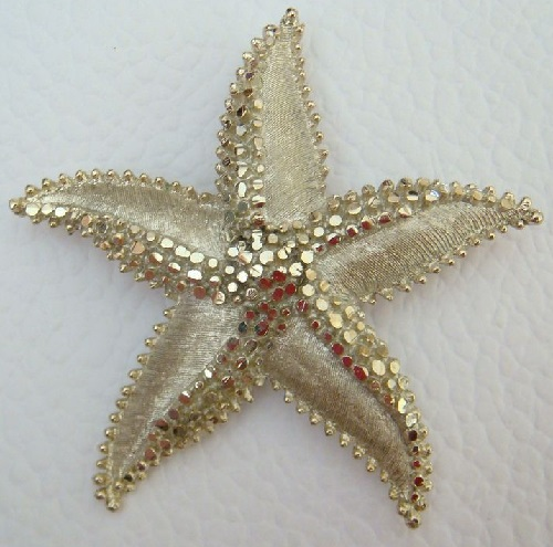 Starfish vintage brooch-pendant by BSK, 1960s