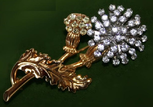 Thistle brooch by Joan Rivers
