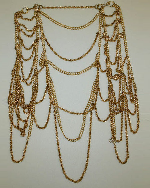 Vest. Body jewellery by Cadoro Jewels Corp. (American, 1954–1987), metal, 1969. The Metropolitan Museum of Art