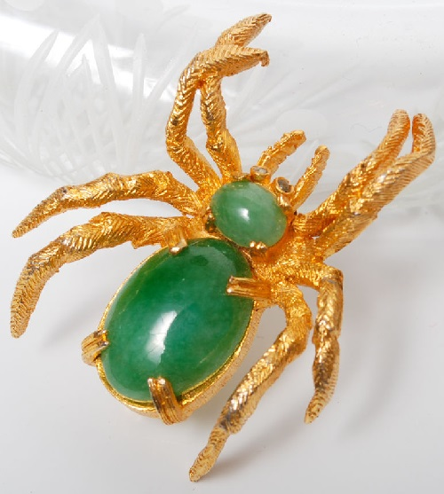 Cadoro vintage jewellery brooch Spider by Cadoro