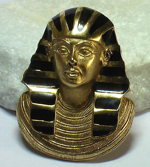 Vintage brooch-pendant - Pharaoh. Erwin Pearl jewellery. Marked © E.Pearl