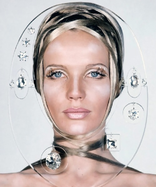 1960s iconic face Veruschka. Photo by Franco Rubartelli. Vogue May 1968