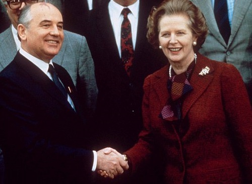 Margaret Thatcher and Mikhail Gorbachev, 1984