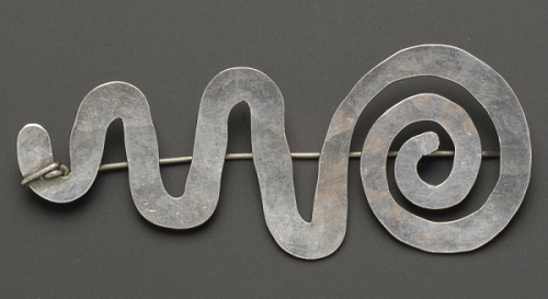 Alexander Calder silver brooch, 1942, sold at auction for $ 23,500