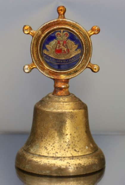 Antique bronze bell enamel England